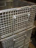 Baskets for industrial washing machines